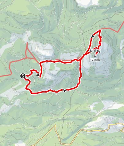 Karte / Sandling - Wandernde Täler, stürzende Berge