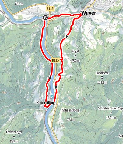 Karte / Weyer - Kleinreifling
