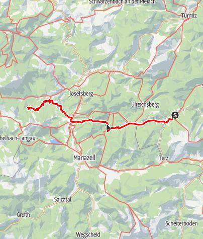 Karte / Haute Route 6. Etappe: Gscheid – Mitterbach – Vorderötscher