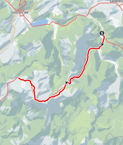 Map / Haute Route 8. Etappe: Langau – Ybbstaler Hütte