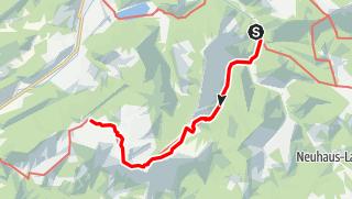 Karte / Haute Route 8. Etappe: Langau – Ybbstaler Hütte