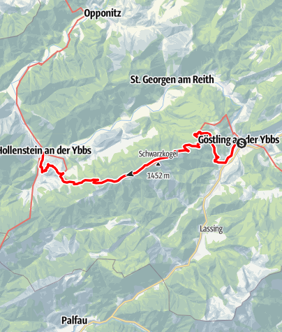 Map / Haute Route 11. Etappe: Göstling – Hollenstein