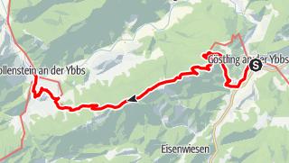 Karte / Haute Route 11. Etappe: Göstling – Hollenstein