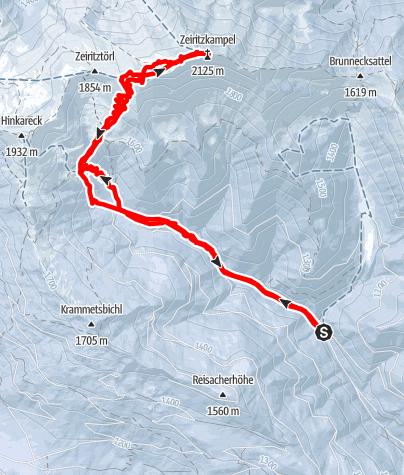 Karte / Zeiritzkampel 2125m