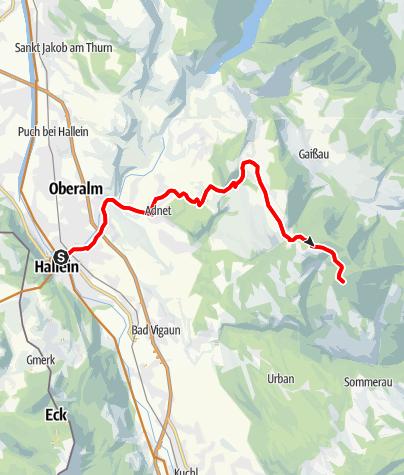 Karte / Hallein - Schlenkenalmen