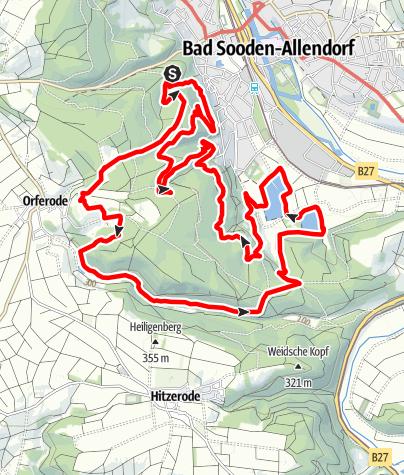 Karte / Premiumweg P 7 Söder Wald (Nordhessen)