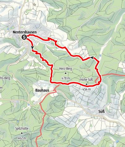 Karte / Premiumweg P 18 Tannenburg (Nordhessen)