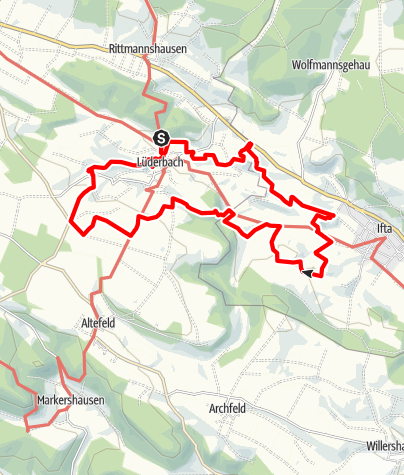 Karte / Premiumweg P 21 Point India (Nordhessen)