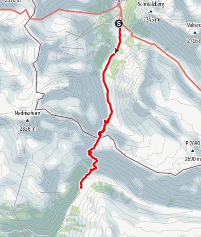 Karte / AS21 1 Gargellen- Bergh.Erika