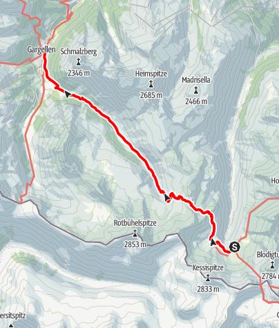 Karte / AS21 6Tübingerh-Gargellen