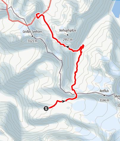 Karte / AS21 4Silvrettahütte- Saarbrückerhütte