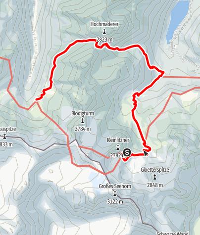 Karte / AS21 5Saarbrückerh-Tübinger Hütte
