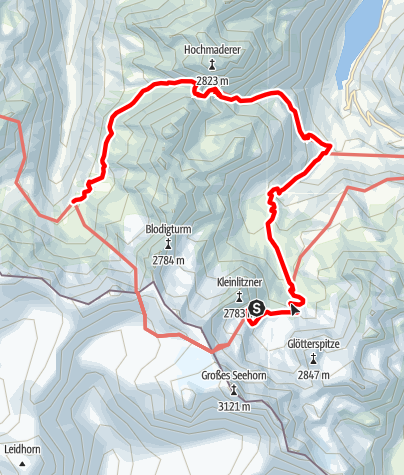 Karte / Min Weag 17 | Saarbrücker Hütte – Tübinger Hütte