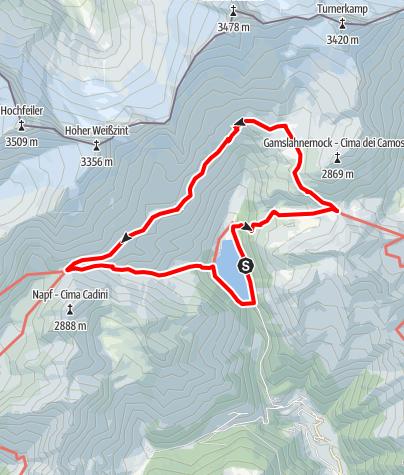 Karte / Neveser Höhenweg