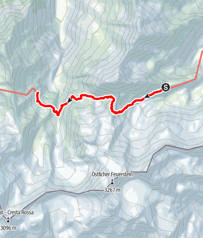 Map / Stubai High Route Segment C - Bremer Hut to Nürnberger Hut