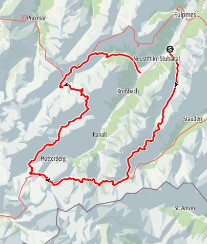 Map / Stubai High Route Custom - Hamburg