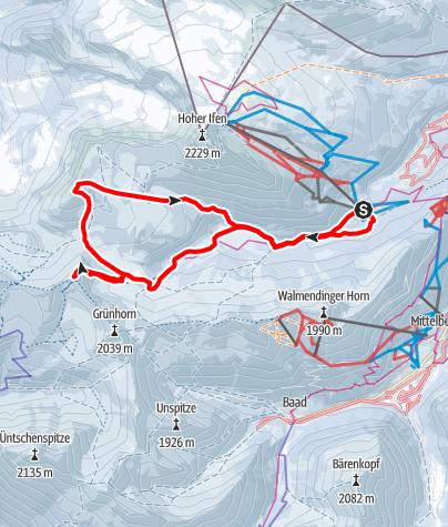 Karte / Hählekopf und Steinmannl - zwei Skitourengipfel über dem Schwarzwassertal