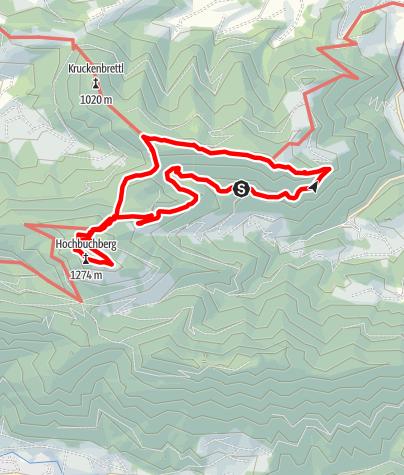 Karte / Hochpuchberg über Herndleck