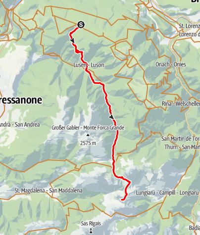 Karte / Ronerhütte (1829) bis Schlüterhütte (2306) v4 1500_023