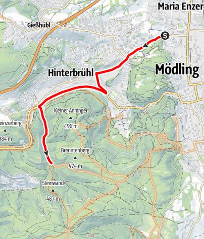 Karte / Defender Zufahrt Ende Kientaltrail