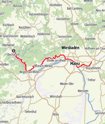 Karte / Rheingauer Riesling Routen