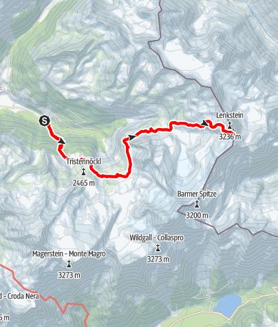 Karte / Bergtour zum Lenkstein