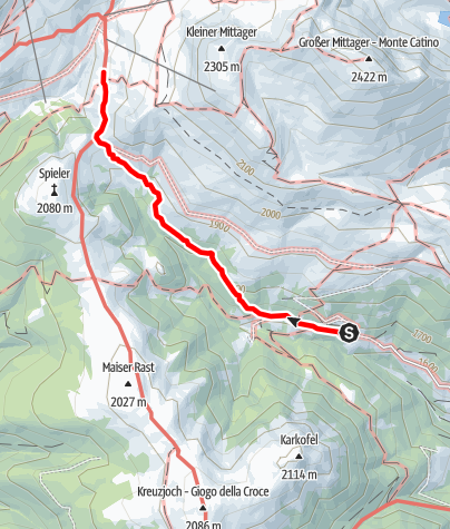 Karte / Zustieg Meraner Hütte