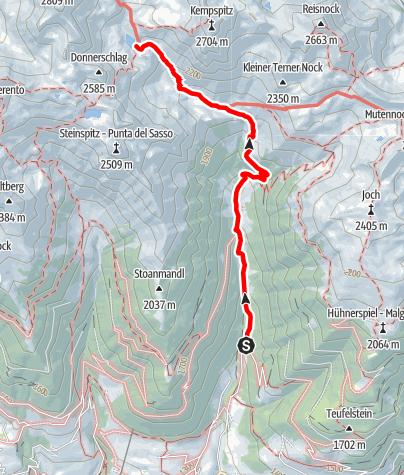 Karte / Zustieg Tiefrastenhütte