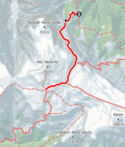 Karte / Übergang Schlernbödelehütte – Schlernhaus