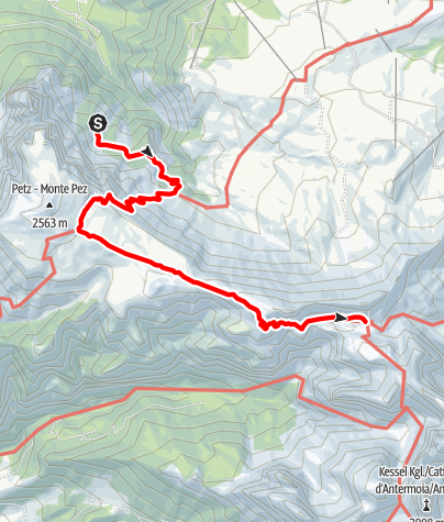 Karte / Übergang Schlernbödelehütte – Tierser Alpl