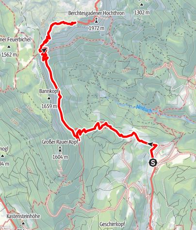 Karte / Stöhrhaus von Maria Gern über den Stöhrweg