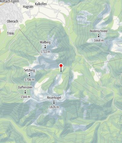 Map / Blankensteinhütte (1214m) - DAV Sektion Oberland