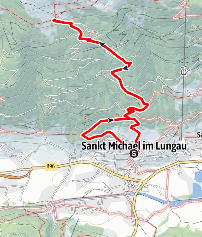 Karte / Wanderung zur Speiereck-Halterhütte