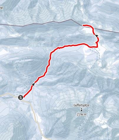 Karte / Vom Parkplatz Köglboden zur Bayerischen Wildalm