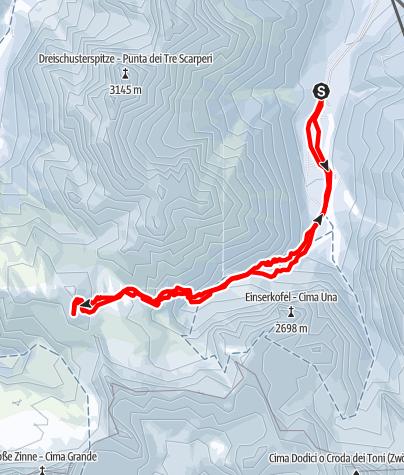 Karte / Auf den Sextner Stoan - Genusstour mit Zinnenblick