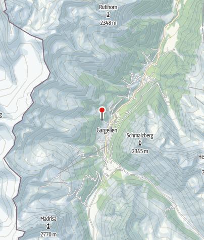 Karte / Rongg Klettersteig am Wasserfall