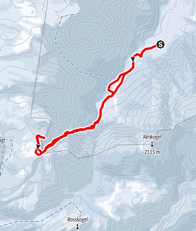 Karte / Kleiner Brieglersberg (2078m) durch das Sigistal