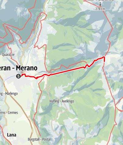 Karte / A 037 - Von Meran zur Meraner Huette