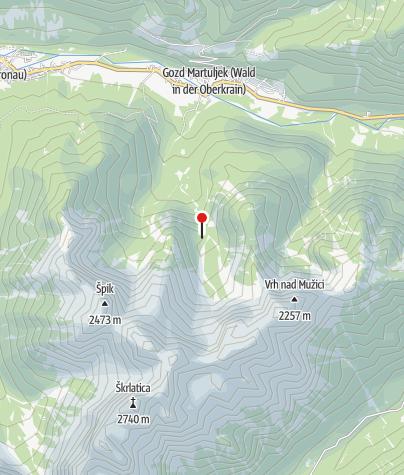 Karte / Biwak III  1300m