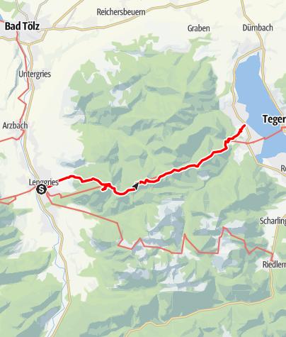 Karte / Über den  Fockenstein zum Tegernsee