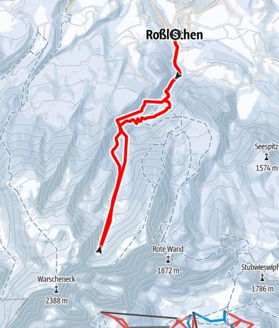 Karte / Ins Glöcklkar von Roßleithen
