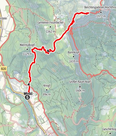 Karte / Stöhrhaus von Winkl über den Reissensteíg
