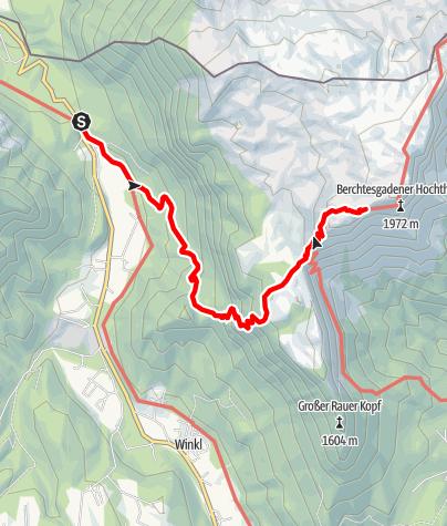 Karte / Stöhrhaus von Hallthurm über Niernthalsteig