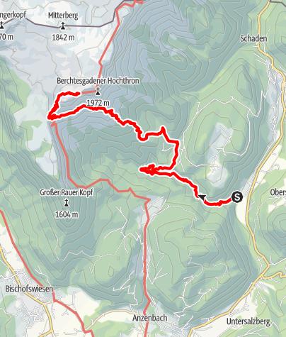 Karte / Stöhrhaus durch die Almbachklamm und den Scheibenkaser