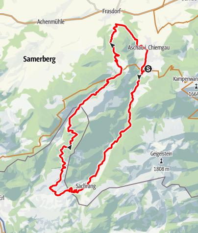 Karte / Aussichtsreiche MTB-Tour um den Spitzstein