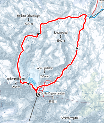 Karte / Skitour Gjaidstein Umrundung