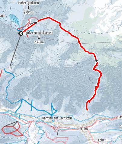 """Karte / Die klassische Tour """"Über den Stein"""" - Guttenberghaus"""