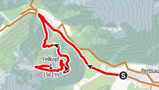 Karte / MTB-Tour zum Feilkopf