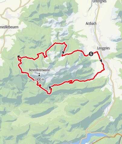 Karte / Umrundung der Benediktenwand