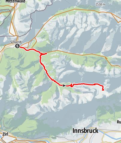 Karte / Von Scharnitz zur Pfeishütte